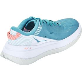 Hoka One One Carbon X Running Shoes Women caribbean sea/white